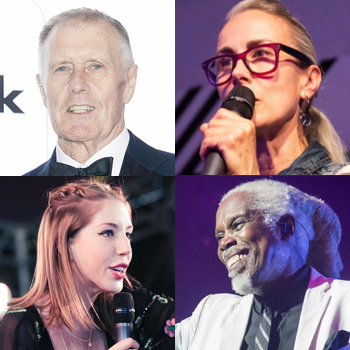 Clockwise from top left: Sir Geoff Hurst, Caryn Franklin, Billy Ocean and Katherine Ryan