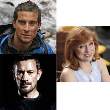 Clockwise from top left: Bear Grylls, Dr Sarah Jarvis and Ollie Ollerton