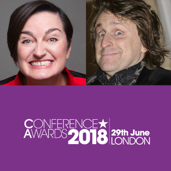 Zoe Lyons and Milton Jones to host the Conference Awards sponsored by Performing Artistes