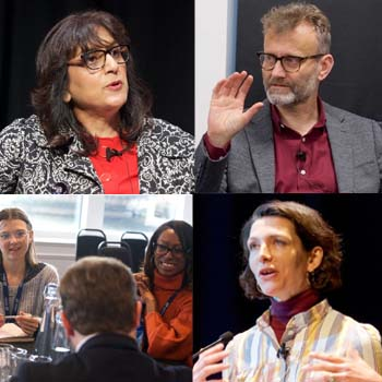 Clockwise from top left: Ritula Shah, Hugh Dennis, Tomasina Miers and workshop