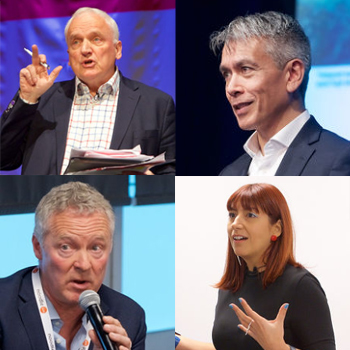 Events Events Speakers, clockwise from top left: Nik Gowing, Tony Anderson, Roberta Lucca and Rory Bremner