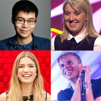 Clockwise from top left: Ken Cheng, Eleanor Tiernan, Harry Baker and Olga Koch