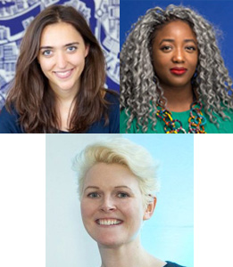 Clockwise from top left: Grace Gould, Dr Anne-Marie Imafidon and Cate Trotter
