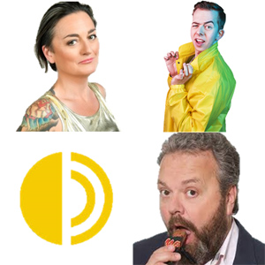 Clockwise from top left: Zoe Lyons, Chris Turner and Hal Cruttenden