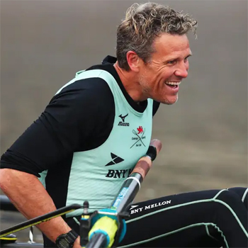 Victorious James Cracknell at the Boat Race '19