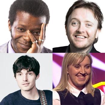 Clockwise from top left: Stephen K Amos, Chris McCausland, Eleanor Tiernan and Jon Long
