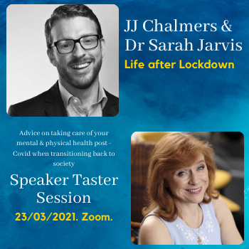 JJ Chalmers and Dr Sarah Jarvis