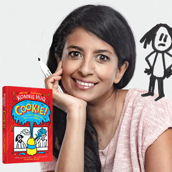 Konnie Huq with Book