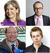 Clockwise from top left: Penny Smith, Allister Heath, Chris Turner and Ian Robertson