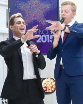 Lee Nelson and Chris Turner at the Conference Awards