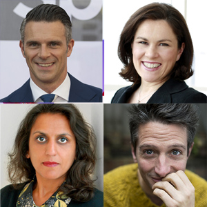 Clockwise from top left: Christian Howse, Tanya Beckett, Stuart Goldsmith and Ritula Shah