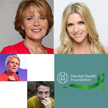 Clockwise from top left: Lorraine Heggessey, Anna Williamson, Mental Health Foundation and Julia Streets and Stu Goldsmith