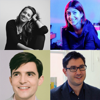 Clockwise from top left: Eliza Filby, Roberta Lucca, Alex Sbardell and Fraser Doherty