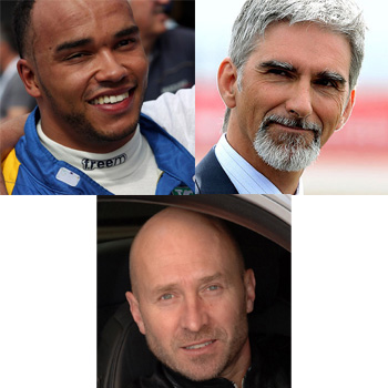 Clockwise from top left: Nic Hamilton, Damon Hill and Perry McCarthy