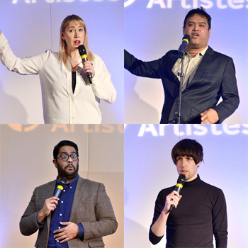 Clockwise from top left - Tiff Stevenson, Paul Sinha, Tom Ward and Eshaan Akbar