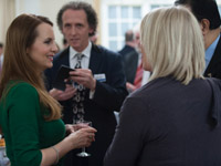 Debra Stephenson talks to Juliet Morris at the Winter Speaker Drinks