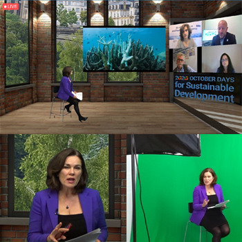 Tanya Beckett in Virtual Conference at PA Towers Studio