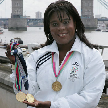 Tessa Sanderson CBE at Tower Bridge